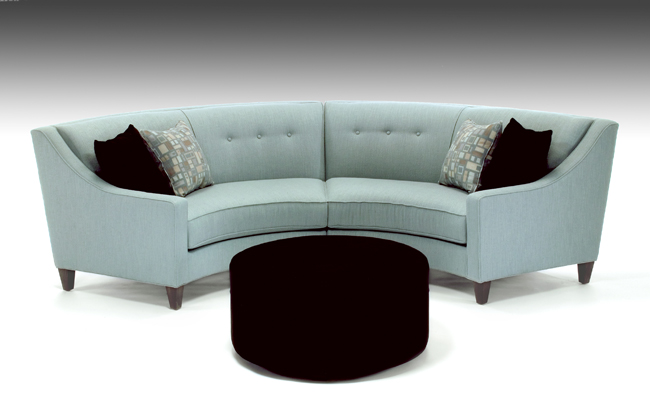 Image of: modern curved sofa
