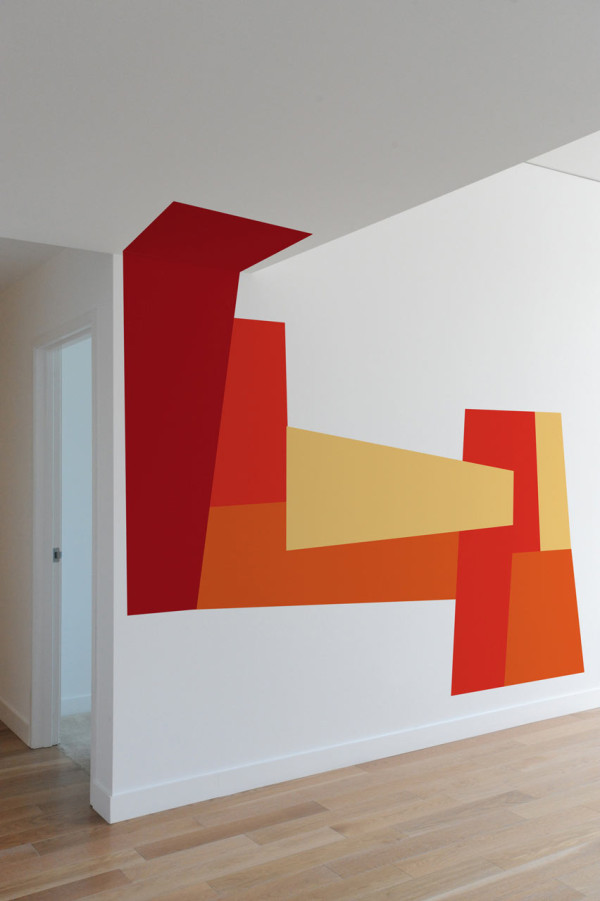 Image of: modern geometric shape wall decal inspirations