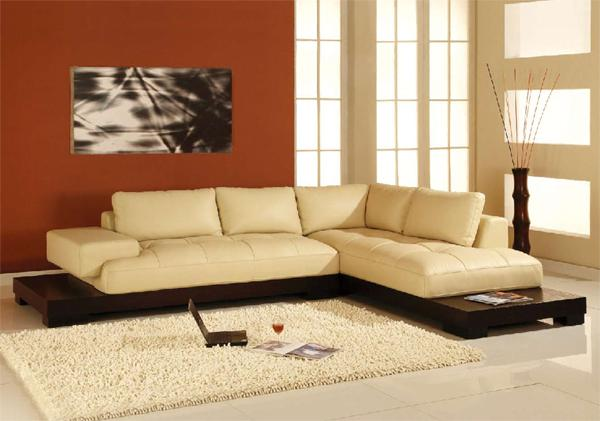 Image of: modern leather sectional sofas