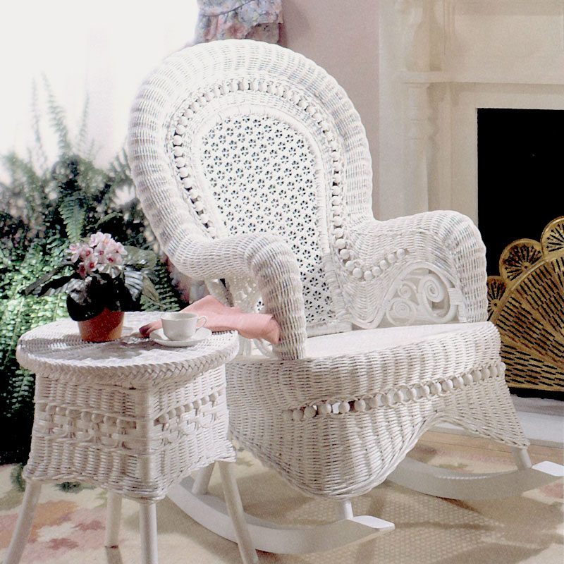 Image of: modern wicker rocking chair