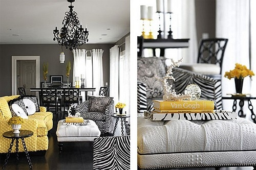 Image of: nice yellow accent chair