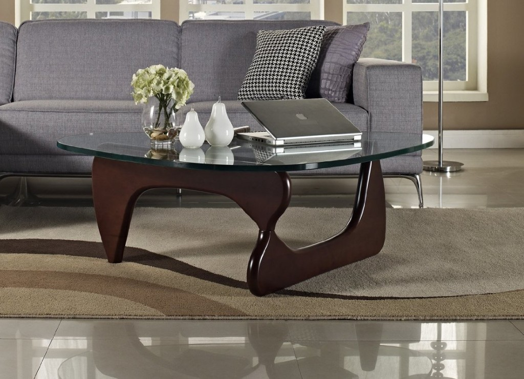 Image of: noguchi coffee table dark walnut