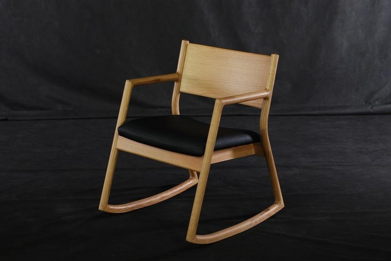 oak solid wooden rocking chairs