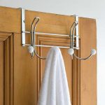 over the door towel rack with brown door