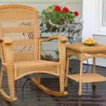 photo of wicker rocking chair