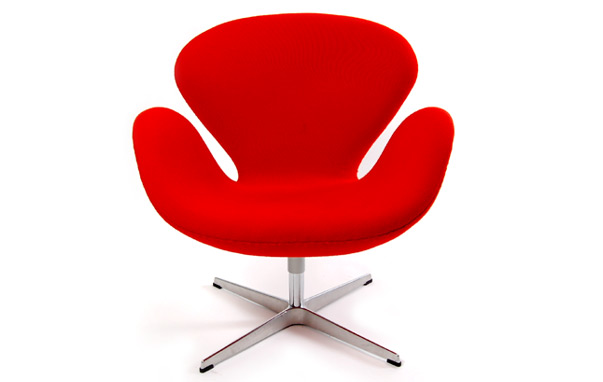 Image of: red Swan Chair