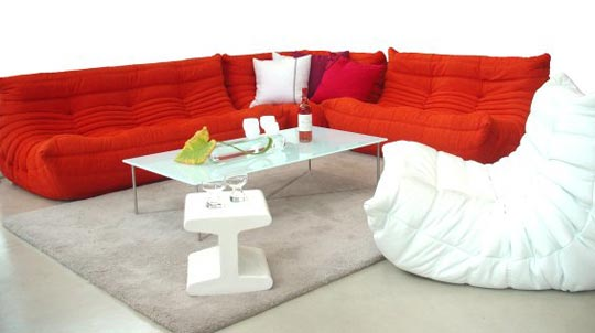 Image of: red togo sofa