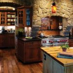 retro or rustic kitchen cabinets