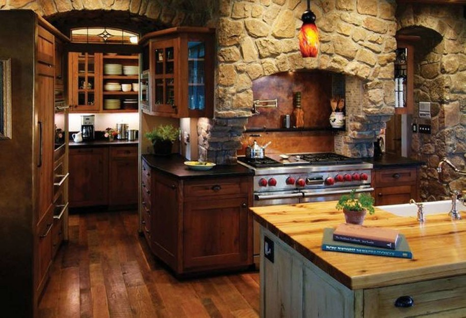 Image of: retro or rustic kitchen cabinets