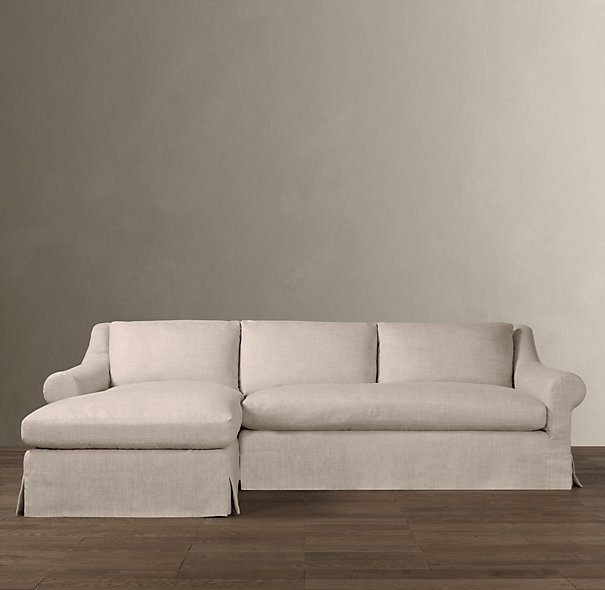 Roll Arm Slipcovered Sofas
