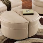 round ottoman coffee table in color