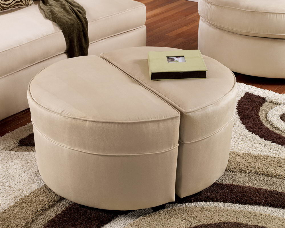 Picture of: round ottoman coffee table in color