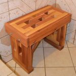 shower bench cedar