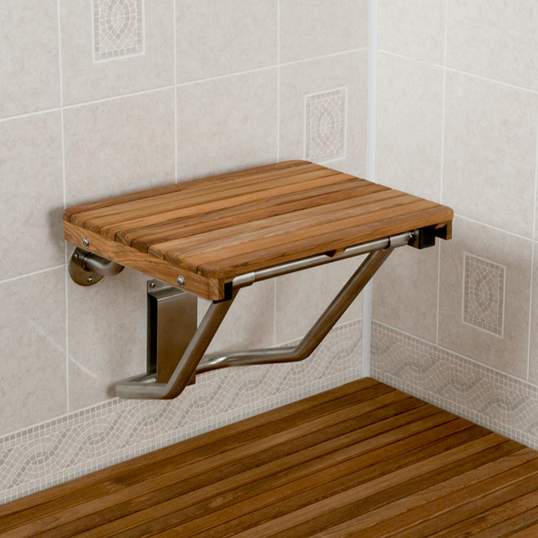 Image of: shower bench wall