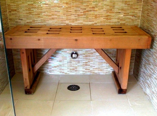 Image of: shower bench