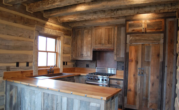 Image of: simple rustic kitchen cabinets design