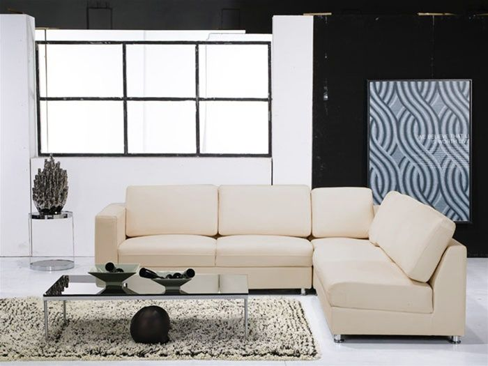 Picture of: small leather sectional sofas