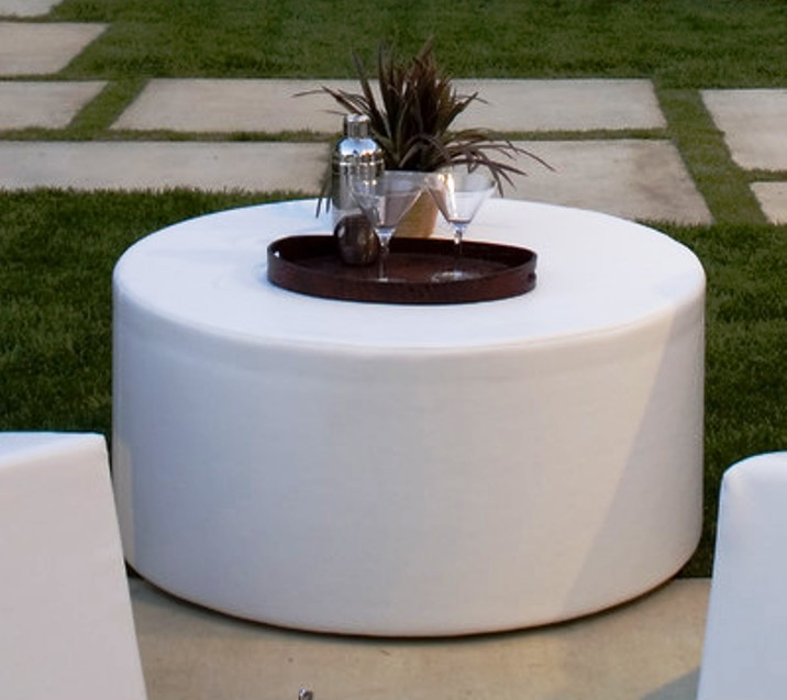 Picture of: small round ottoman coffee table
