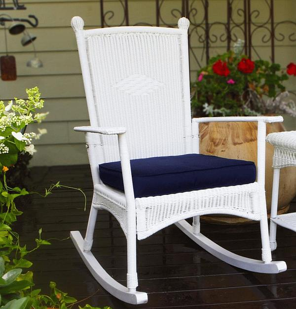 Image of: small wicker rocking chair