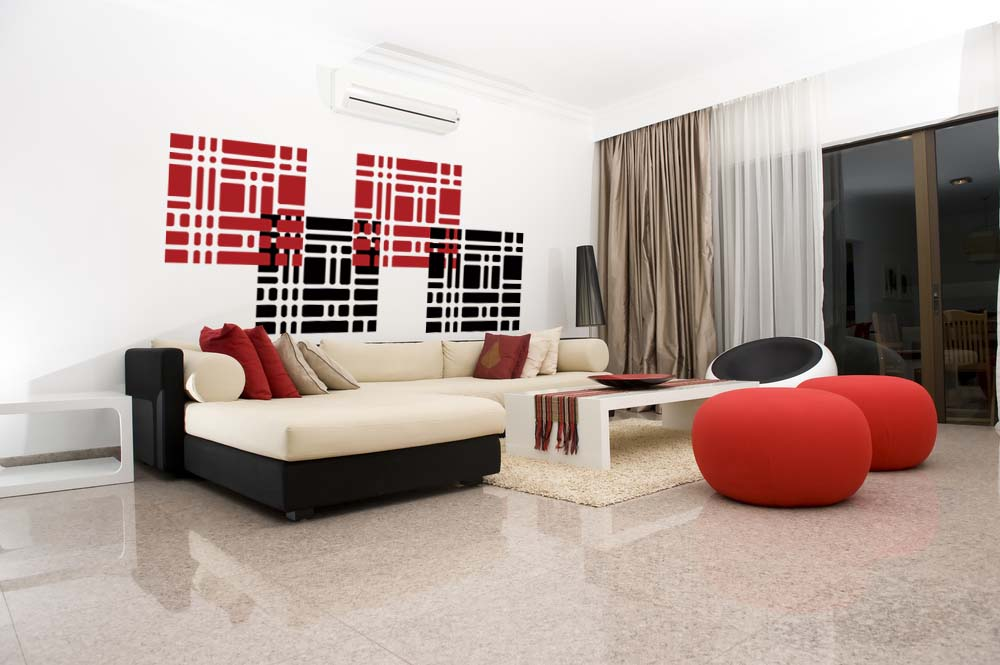 Image of: squares modern wall decal wall sticker
