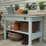 stunning potting bench