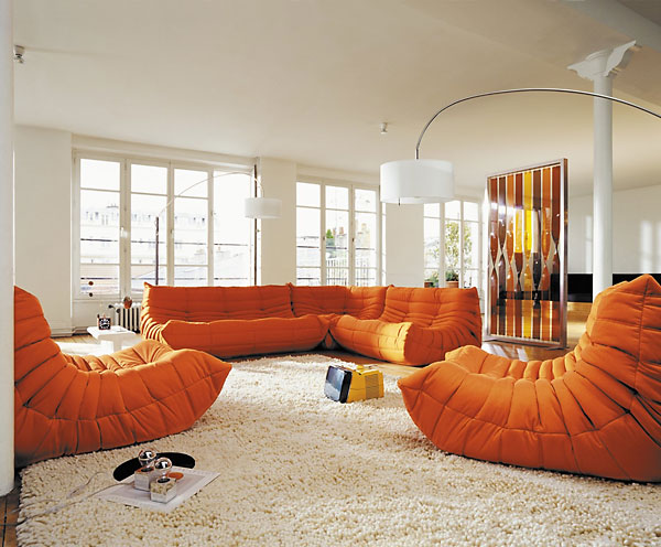 Image of: togo sofa orange