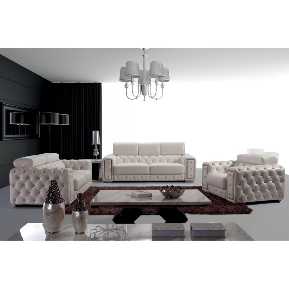 Image of: tufted leather sofa image