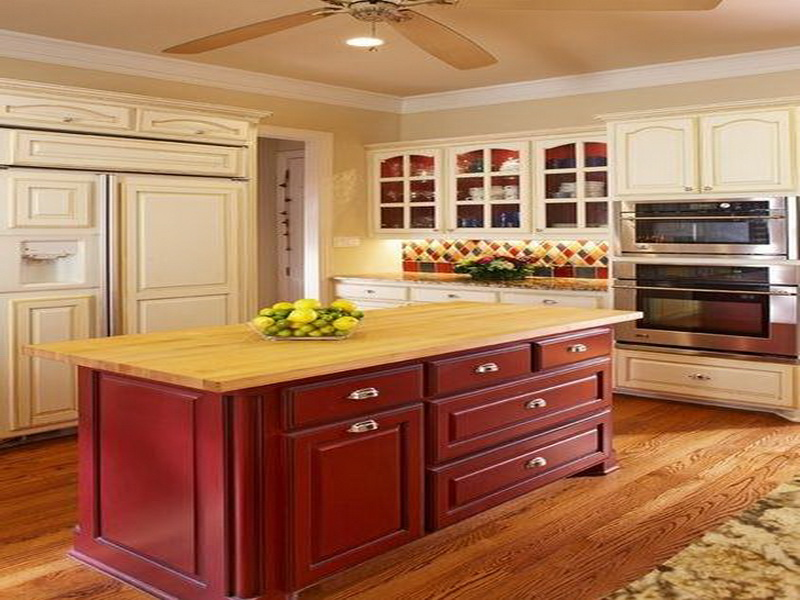 Image of: two tone kitchen cabinets elegant design