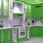 two tone kitchen cabinets green image