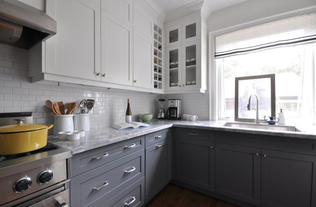 Two Tone Kitchen Cabinets White Color