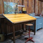 vintage drafting table