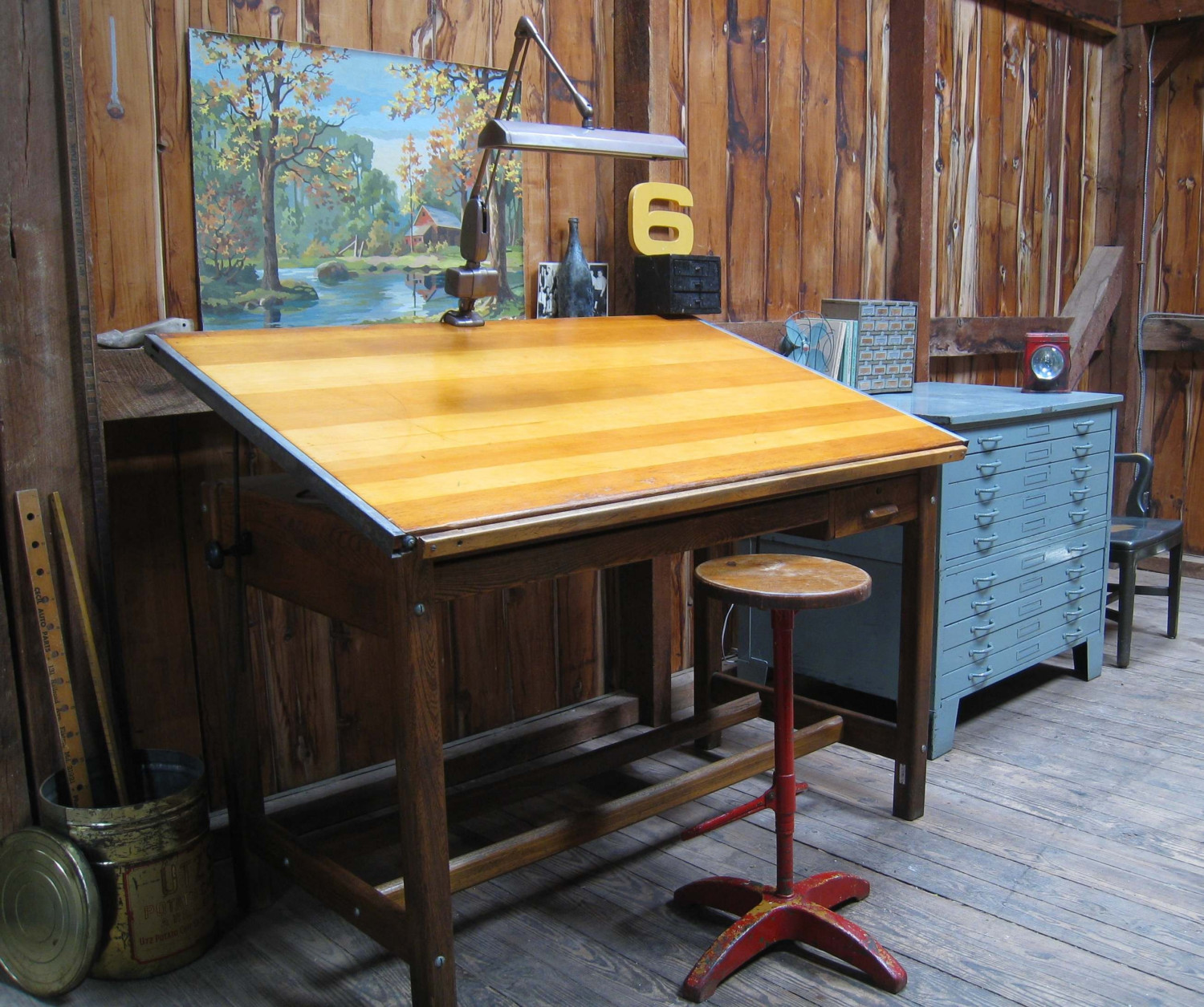 Picture of: vintage drafting table