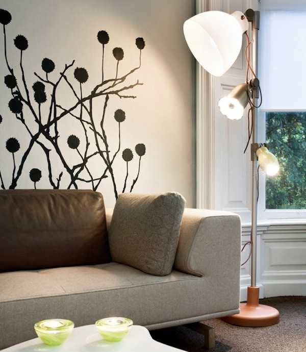 Picture of: wall decal modern livingroom