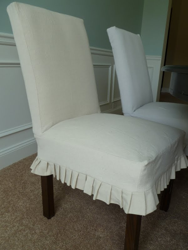 White Parsons Chair Slipcovers