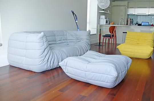 Image of: white togo sofa