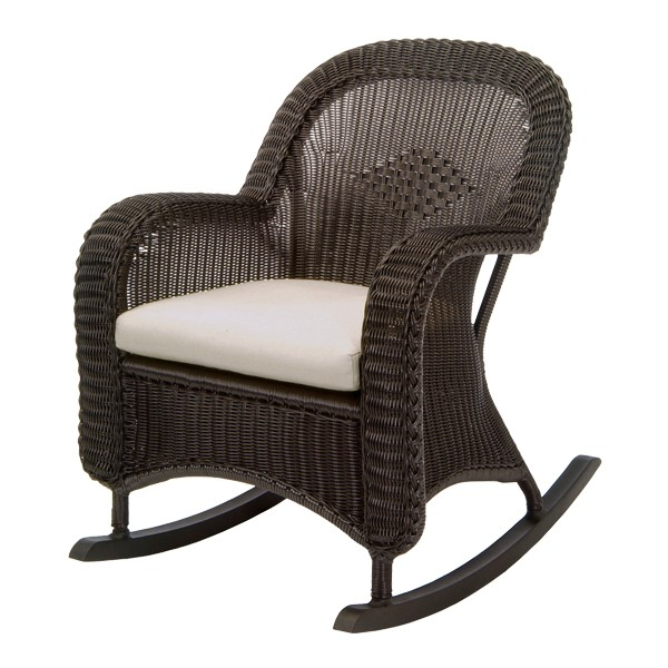 Image of: wicker rocking chair in design