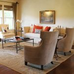 wingback chairs in living room