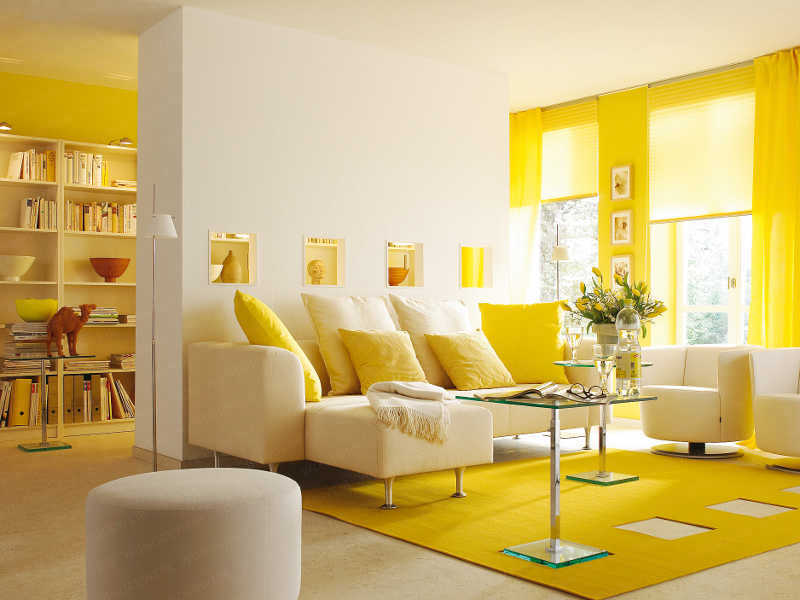 Image of: yellow accent chair for livingroom