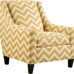 Yellow Accent Chair Zig Zag