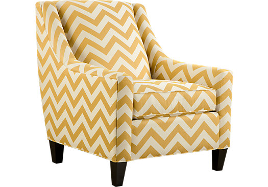Image of: yellow accent chair zig zag