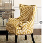 Zebra Yellow Accent Chair