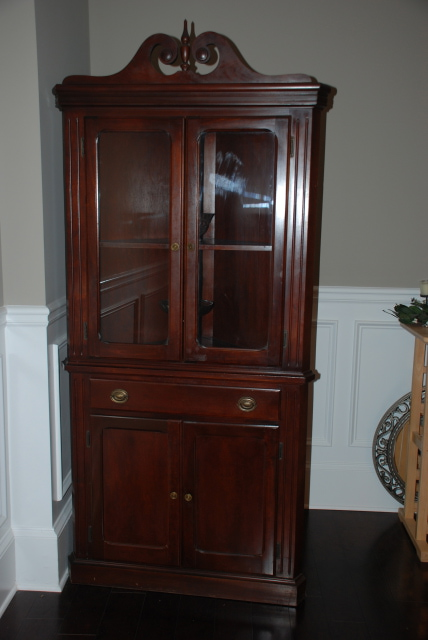 Antique china cabinet brown