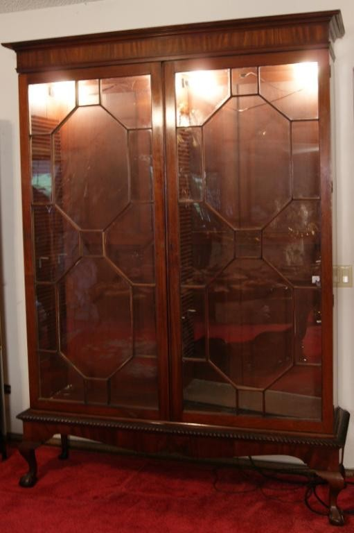Image of: Antique china cabinet picture