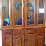 Antique china cabinet size