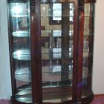 Antique china cabinet with oak