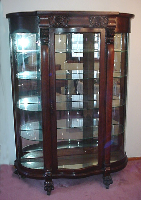 Image of: Antique china cabinet with oak