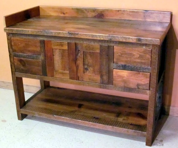 Image of: Antique reclaimed wood furniture