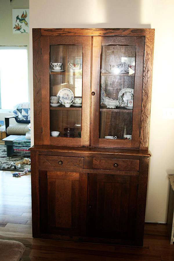 Image of: Beautiful antique china cabinet