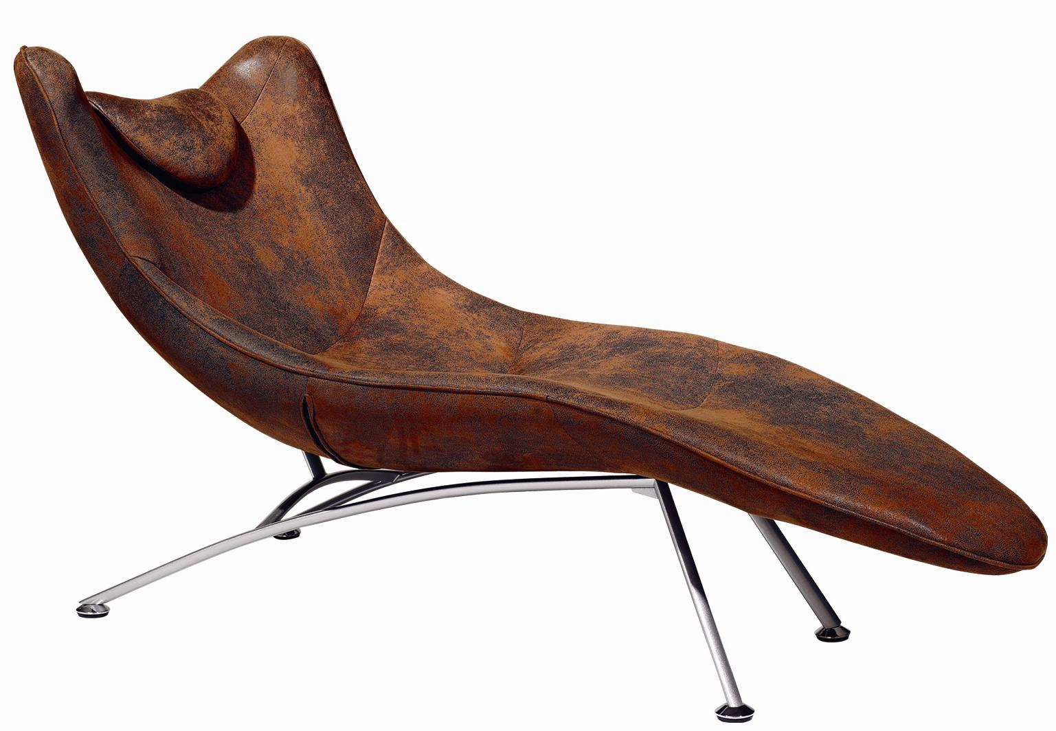 Picture of: Brown chaise lounge chair