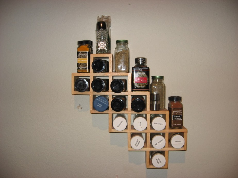 Image of: Creative Wall Hanging Spice Racks
